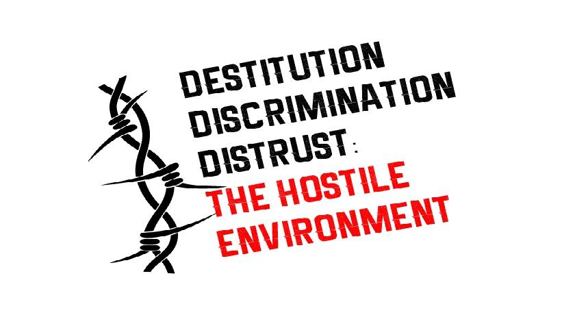 News banner Hostile Environment logo